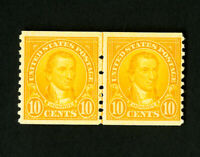 US Stamps # 603 VF OG NH Line Pair