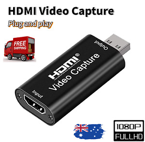 HDMI to USB 2.0 Video Capture Card 4K 1080P 60fps Record Use For Live stream AUS