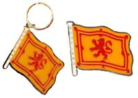 Scotland Lion Rampant Brass Keyring Fridge Magnet Souvenir Gift Scottish Flag