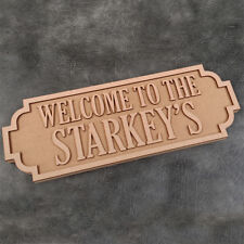 Street Sign - Welcome To The (Surname) - Freestanding Craft Sign and Shapes