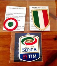 2016-17 JUVENTUS Serie A & Scudetto & Coppa Italia STILSCREEN Badge Patch Set