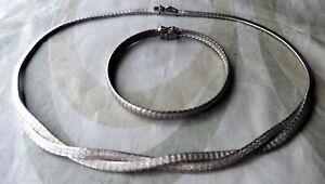 Schmuckset Collier und Armband aus Silber 835