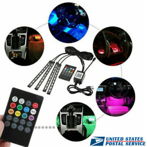 Car USB Music Control RGB LED Interior happy Light for Subaru Volvo Mini Jaguar