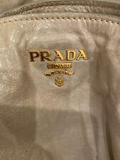 AUTHENTIC Prada Vitello Shine Grey Leather Shopper Bag Purse Tote