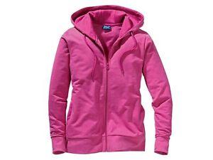 Ladies Sweat Jacket jacket hood Hoodie size S M L Casual style sport pink