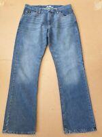 L342 MENS WRANGLER COOL VANTAGE FADED BLUE STRAIGHT LEG DENIM JEANS W34 L32