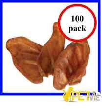 100 x PIG EARS LARGE 100% AUSTRALIA MADE NATURAL HEALTHY DOG TREATS - DOG CHEW