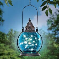 Sparkle Solar Lighted Hanging Gazing Ball Lantern - Outdoor Garden Yard Decor