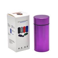 1 X Stash Jar Container Pill Box Water Proof Rubber Airtight  Aluminum Purple