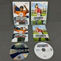 Tiger Woods PGA Tour 10 and All Play 09 Nintendo Wii Complete with Manuals Lot