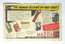 +++ ANCIEN BUVARD PUBLICITAIRE VINTAGE PILE MAZDA Kitsch Nice Sympa, Top +++