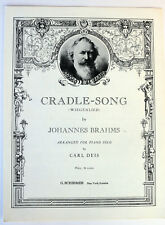 1938 CRADLE-SONG (WIEGENLIED)SHEET MUSIC BY JOHANNES BRAHMS ARRANGED FOR PIANO