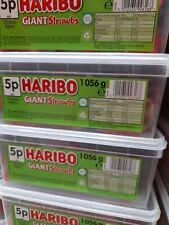 Haribo Giant Strawbs Strawberries Tub Pick 'N Mix Sweets Kids Candy Party Favour