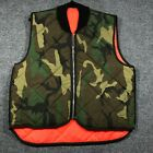Empire Insulated Wear Men's L Reversible Hunting Vest Camo/Blaze USA Union Made