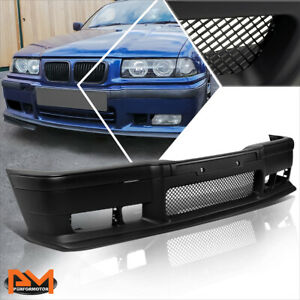 For 92-98 BMW E36 3-Series M3/M-Sport Style Front Bumper Cover Lower Lip w/Grill