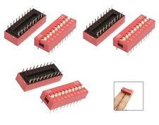 W104 - 20 Pièces Commutateur DIP 10 broches RM 2,54 Commutateur Micro Piano