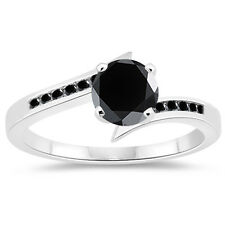 Diamond 925 Sterling Silver Engagement Ring 2.62 Ct Black Color Real Moissanite
