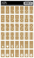JBS Rub-On Singles-DOMINOS GOLD scrapbooking VINTAGE