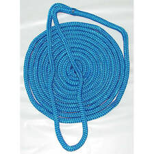 1/2 Inch x 25 Ft Blue Double Braid Nylon Mooring and Docking Line for Boats