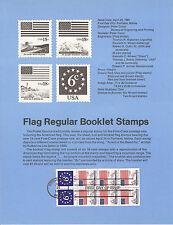 6 & 18 cent BOOKLET PANE 1981 SOUVENIR PAGE SCOTT # 1892-1893 SP534 Regular Issu