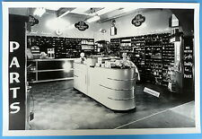 """12 By 18"""" Black & White Picture 1950 Chevrolet Parts &  Accessories Display"""