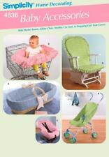 Simplicity 4636 Baby Accessories Basket Insert Glider Chair Stroller Cart cover
