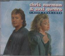 Chris Norman & Suzi Quatro  CD-MAXI  I NEED YOU LOVE  ©  1992