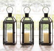 "12 Black 16"" Tall Malta Candle holder Lantern lamp wedding table centerpiece L"