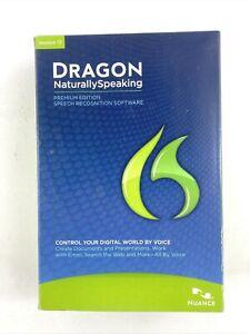 Nuance Dragon NaturallySpeaking 12 Premium Edition K609A-D00-12.0 Brand New