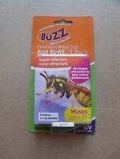 3 x 4g sachets WASP Bait REFILLS - for BUZZ POISON FREE Trap - FREE P&H Aust
