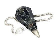 Black Tourmaline Orgone Pendulum Crystal Orgonite Dowser EMF Protection Gift