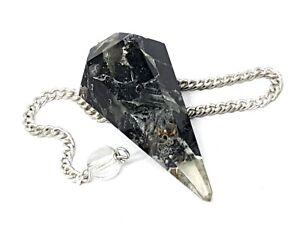 Black Tourmaline Pendulum Orgone Crystal Orgonite Dowser EMF Protection Gift