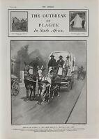 1901 Estampado Outbreak De Plague Sudáfrica Maitland Ciudad Del Cabo Removedor