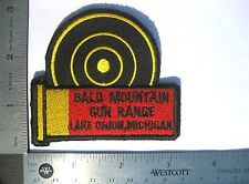 BALD MOUNTAIN ~ GUN RANGE EMBROIDERED SEW ON ONLY PATCH LAKE ORION MICHIGAN