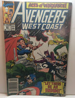 Marvel Comics west coast avengers no.55, 1st app. of the Dark Scarlet Witch, VF+