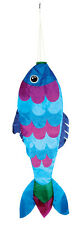 "Blue Fish 36"" Hanging Windsock - 10 SD--42705"
