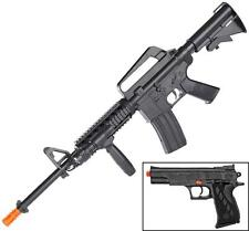 Colt M4 R.I.S Airsoft Rifle & 1911 Colt Pistol Spring Airsoft Players Combo Pack