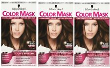 3x Schwarzkopf Color Mask Permanent Colour 550 Golden Brown