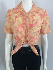 Original Vintage 50s 60s Top Blouse Shirt , Rockabilly , Pinup, Large
