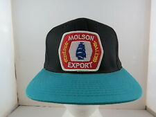 Canadian Beer Hat (VTG) - Molson Export Crested - Adult Snapback