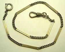 chaine argent de montre gousset / old silver chain de pocket watch poinçon crabe
