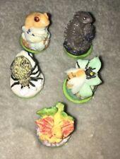 Miniature Circular Ceramic/Rubber Stamps. Qty. (5)