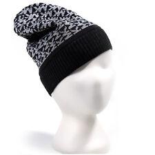 0ee16ceb5e NUOVO Designer Michael Kors Metallizzato Grigio Slouch Piegare Polsino  Cappello Slouch Beanie Cappello