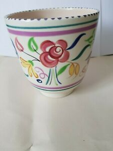 Poole Pottery Hand Painted Floral Vase