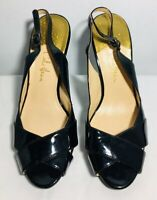 Cole Haan Slingback Shoes Size 5.5 B Women's Black Open Toe High Heels Pumps
