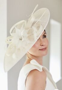 NIGEL RAYMENT IVORY WEDDING DISC HATINATOR Mother Of The Bride Hat OCCASION
