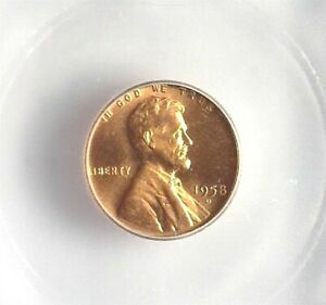1958-D LINCOLN CENT ICG MS 66+ RED LISTS FOR $65!!