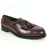 Nunn Bush Men's Dress Shoes Flex Tassle Loafers Burgundy Leather Size 9.5 M