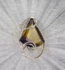 AMETRINE GEMSTONE PENDANT STERLING SILVER 27  CTS ------  WIRE WRAPPED