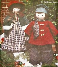 """Simplicity Sewing Pattern 8415 46"""" & 38"""" Caroler Dolls Clothes Holiday Craft"""